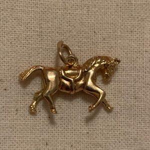 Vintage 1960s Gold Horse Bracelet Charm